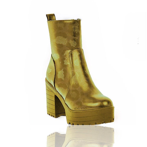 Ryna Gold Reflection Ankle Boots