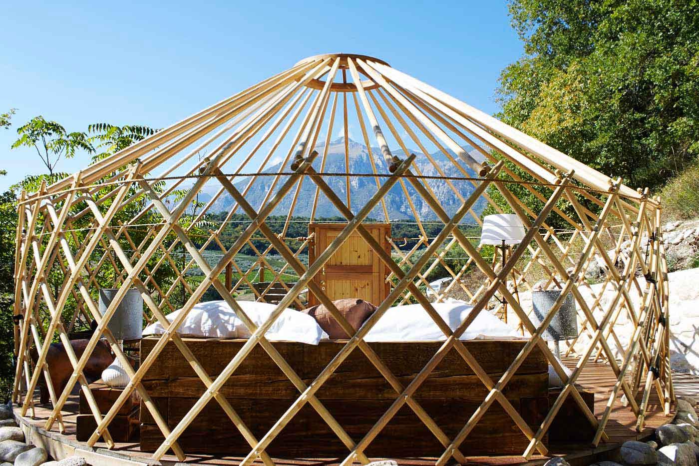 Subtle truffle yurt
