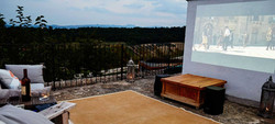 Rooftop cinema at the house