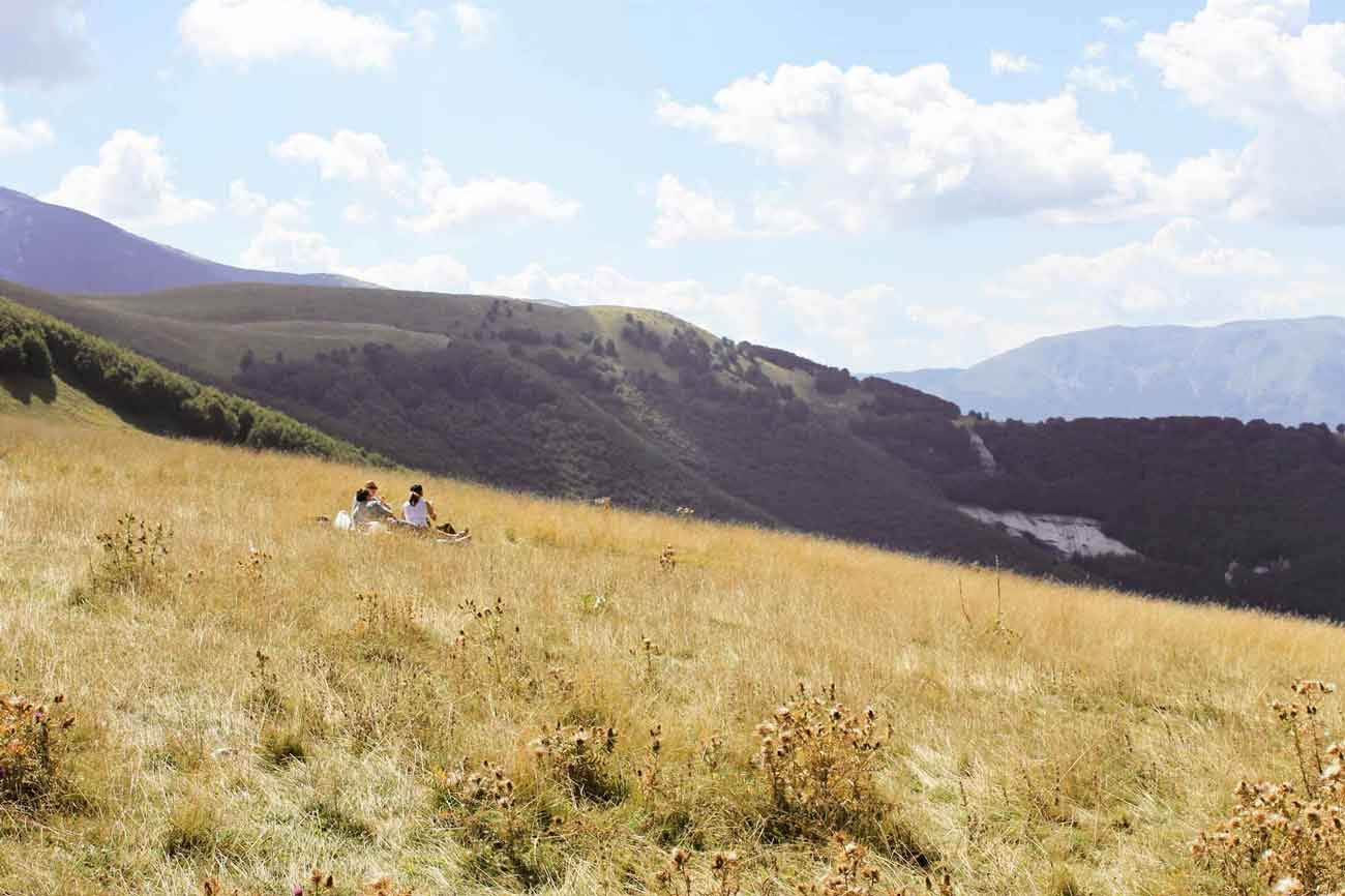 Picnic up the Majella mountain