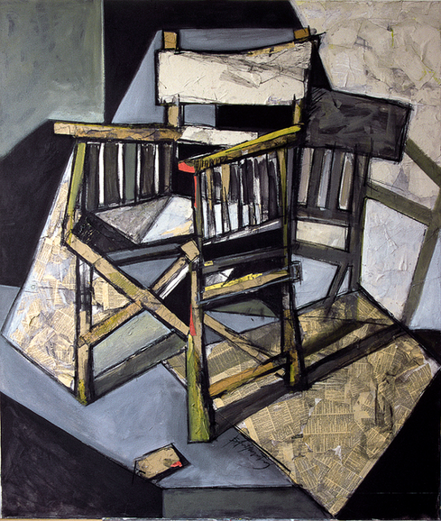 Composition with chair