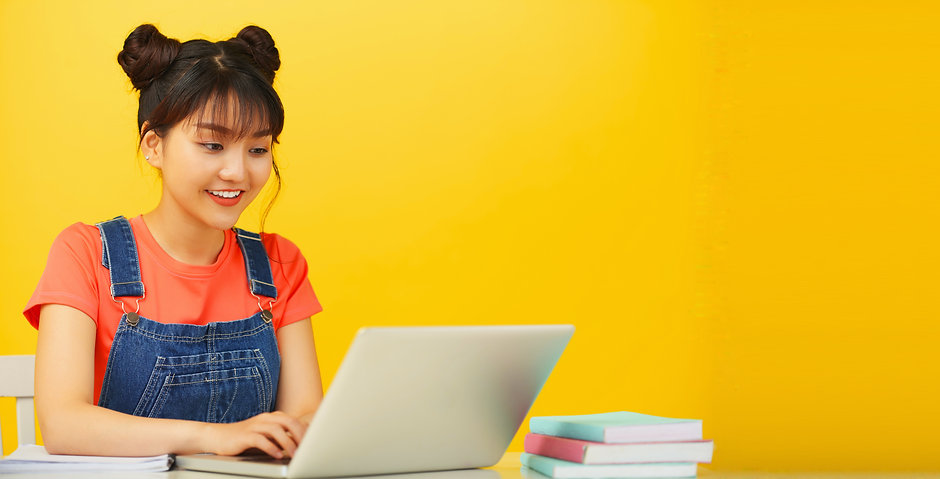 Student studying on computer | Frisby English Online