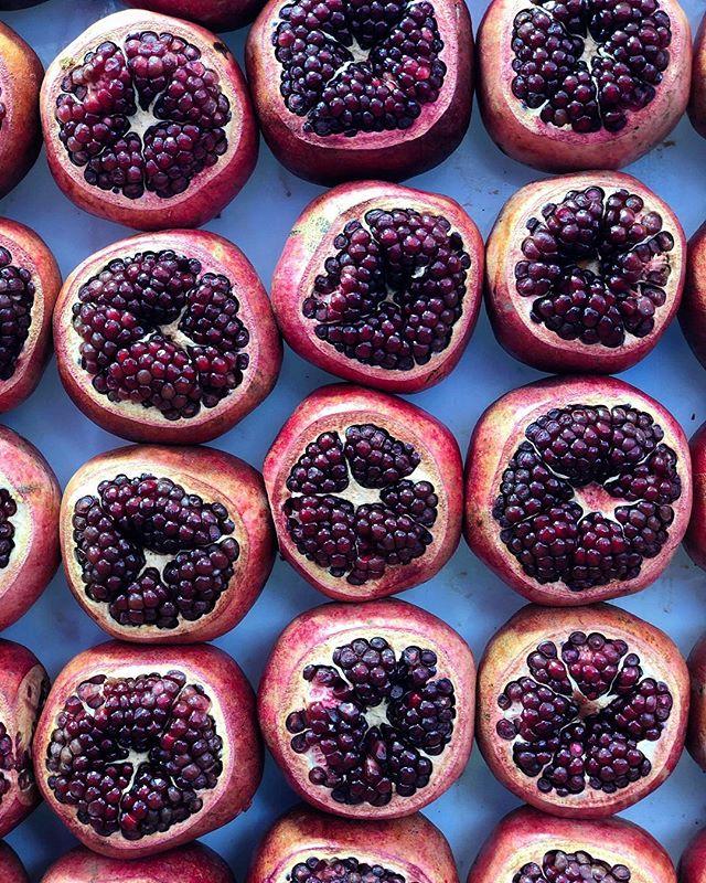 Pomegranates in Tel Aviv, Israel