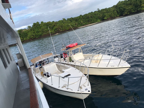 Mothership stay at panama sport fishing lodge fleet hooked to mothership