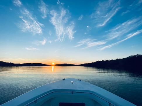 Mothership stay at panama sport fishing lodge sunset