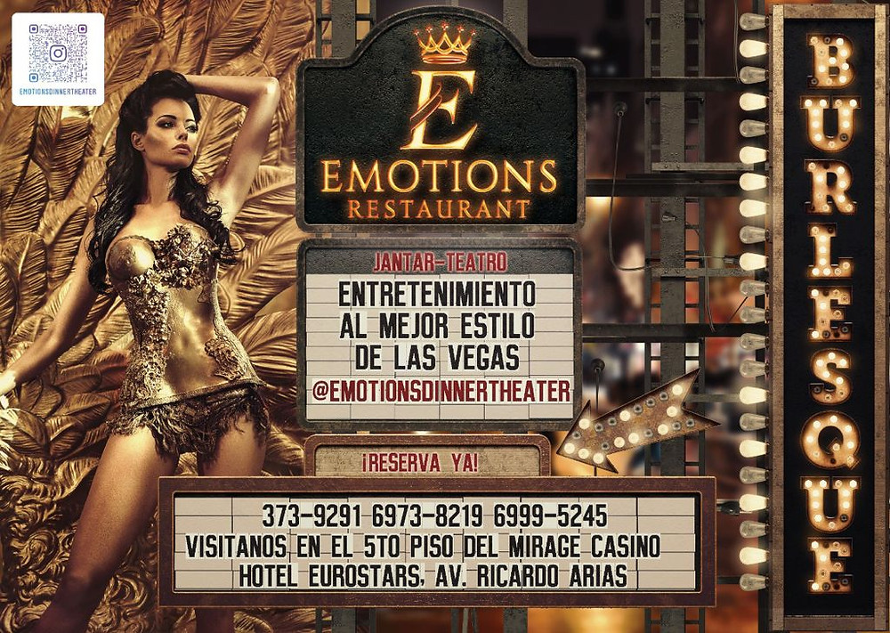 Emotions dinner theater burlesque club in Panama City