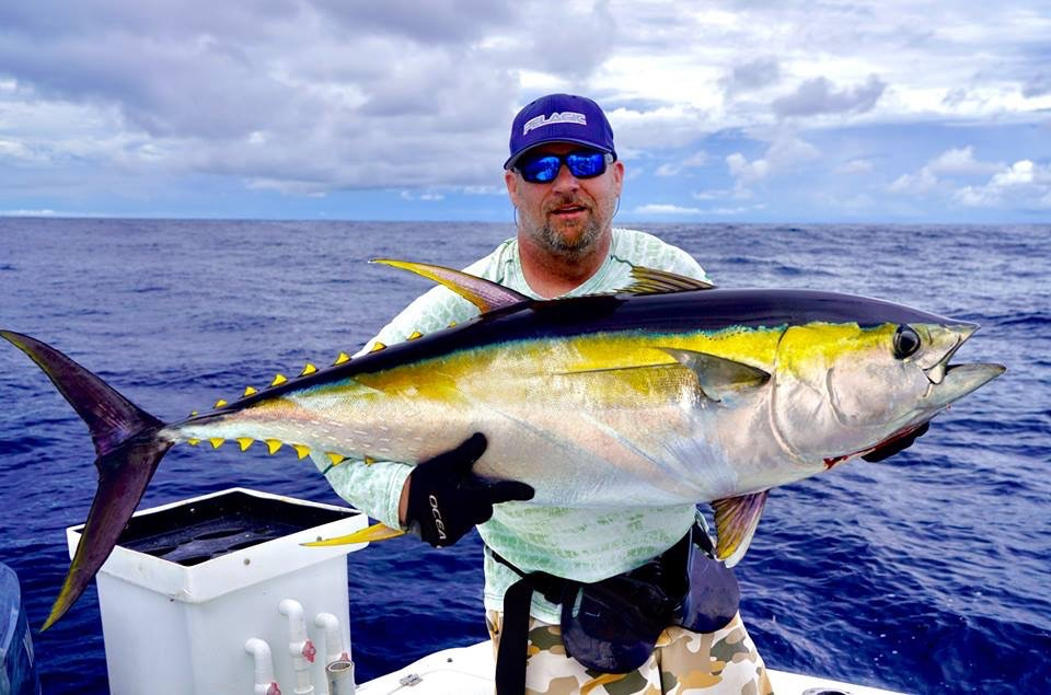 tuna caught at Panama sport fishing lodge