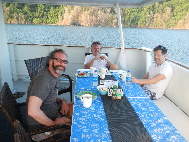 Mothership stay at panama sport fishing lodge dining table
