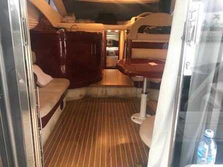 interior of 52ft astondoa for charter in panama