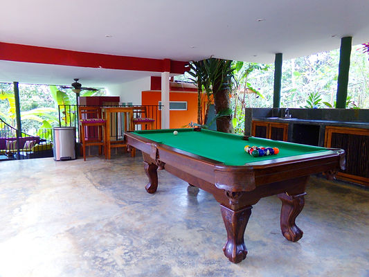 billiards and game room at la semilla panama