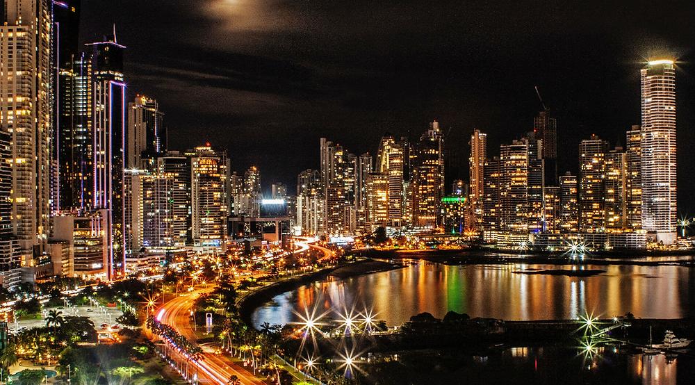 Panama City Nightlife Skyline
