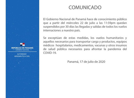 Panama Tocumen Airport Closure Extended til end of August