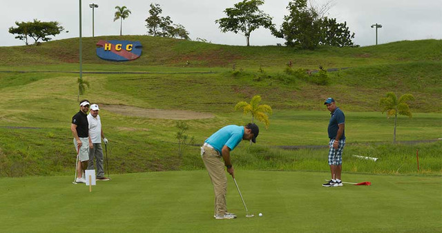 golfing at hacienda country club in cerro azul, panama
