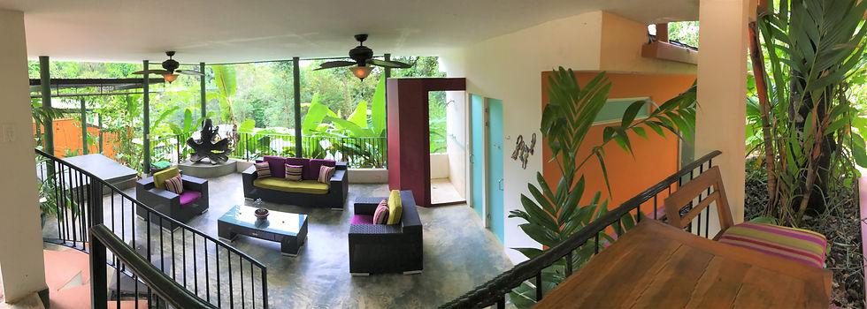 Relaxation lounge at La Semilla Panama in Cerro Azul