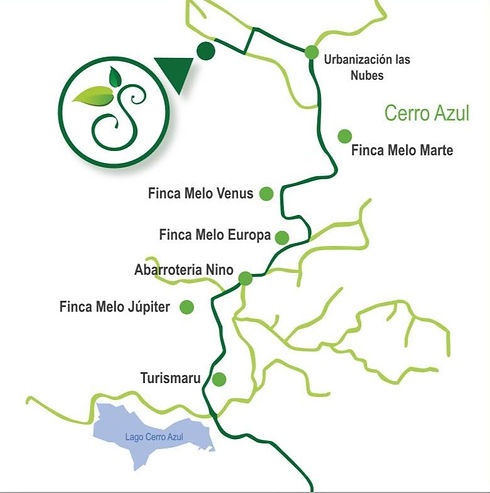 Map to La Semilla Ecolodge in Cerro Azul Panama