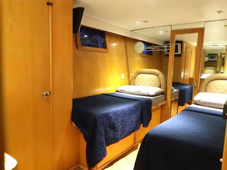 bedroom 2 of 90ft broward yacht for charter in panama