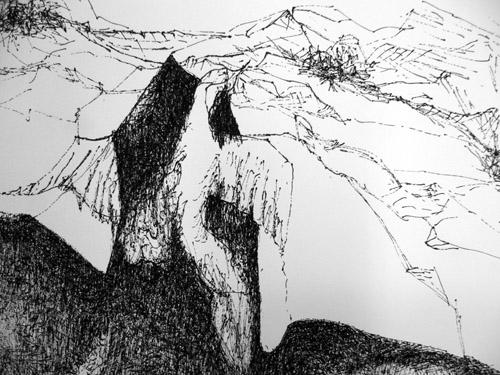 Zeichnung Metamorphose (Ausschnitt)