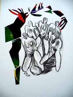 Zeichnung Collage