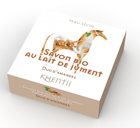 Eco  Savon lait de jument FRAIS BIO Duo d'Amandes