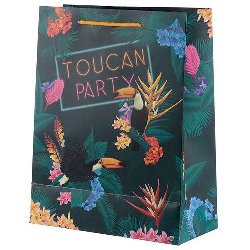 Eco sac cadeau medium toucan