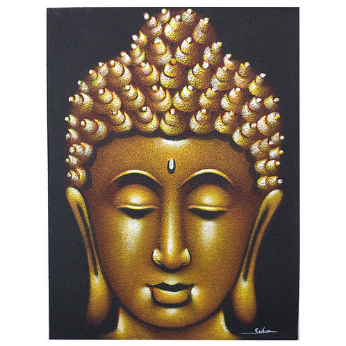 Eco Cadre Bouddha - Finition Sable Doré