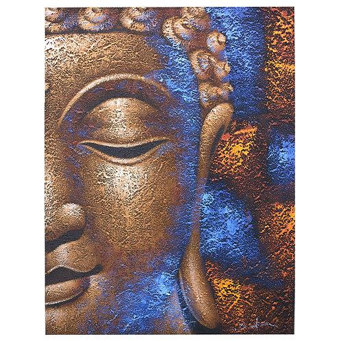 Eco cadre  Bouddha - Visage Cuivré