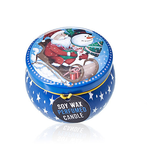 Eco bougie de noel blue christmas