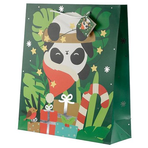 Eco  Sac Cadeau de Noël Animal Jungle & Zoo - Panda