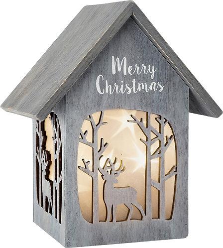 "ECO Maison lumineuse ""Merry Christmas"", Shabby Chic"