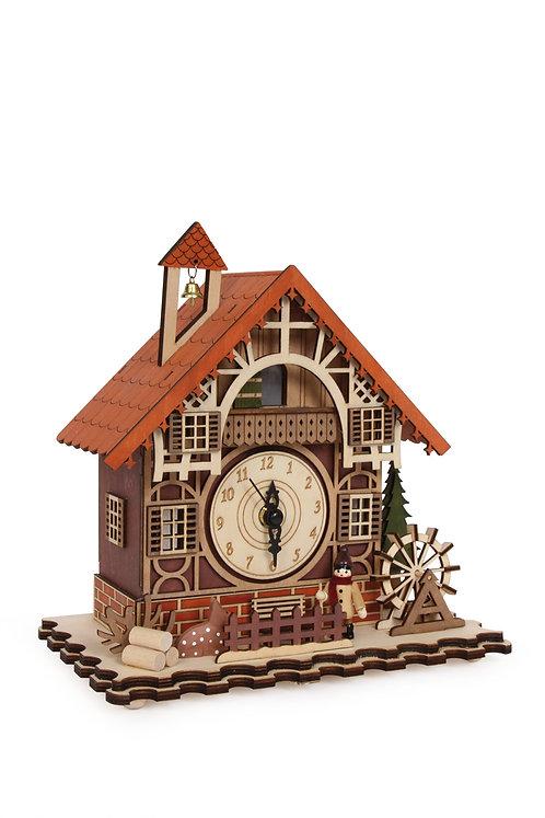 Eco Horloge Maison à colombages