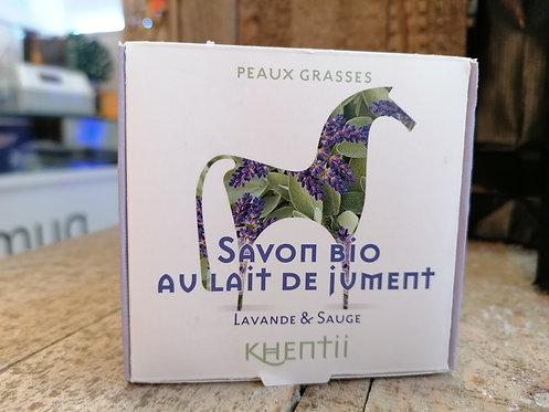 Eco Savon 40% Lait de Jument FRAIS BIO Lavande & Sauge