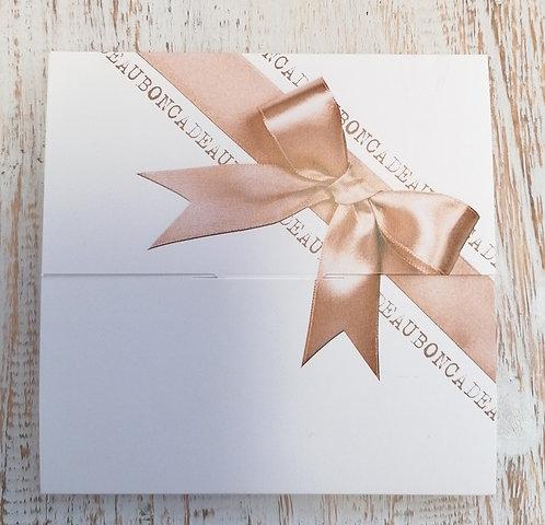 Gift card 60 white + savon surprise offert