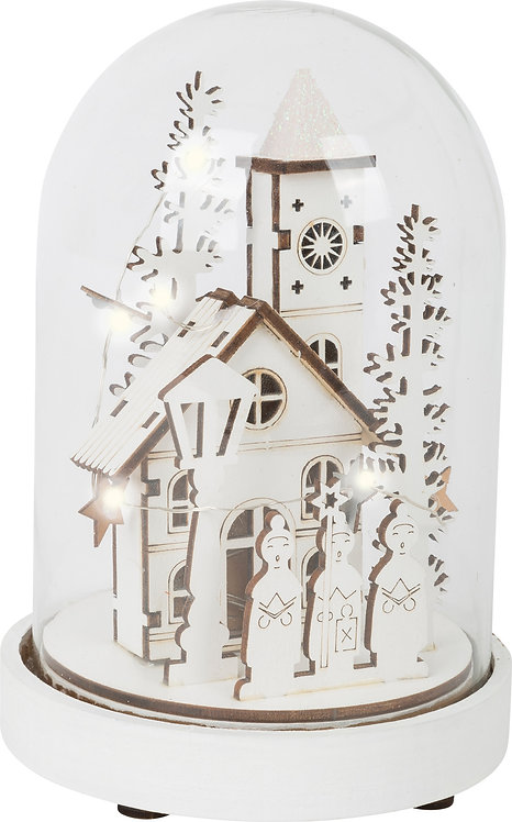 ECO Chritmas cloche lumineuse Village enneigé