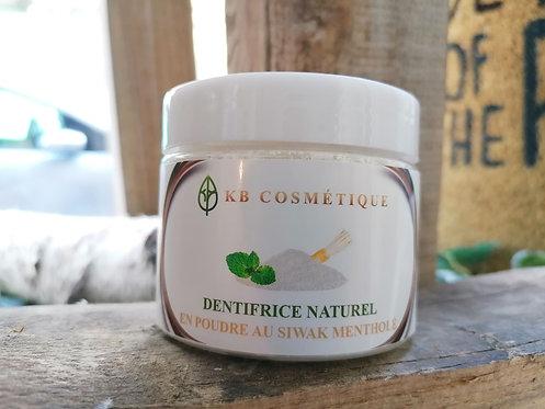 Eco Dentifrice naturel mentholé en poudre au siwak