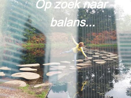 Blog: Op zoek naar balans