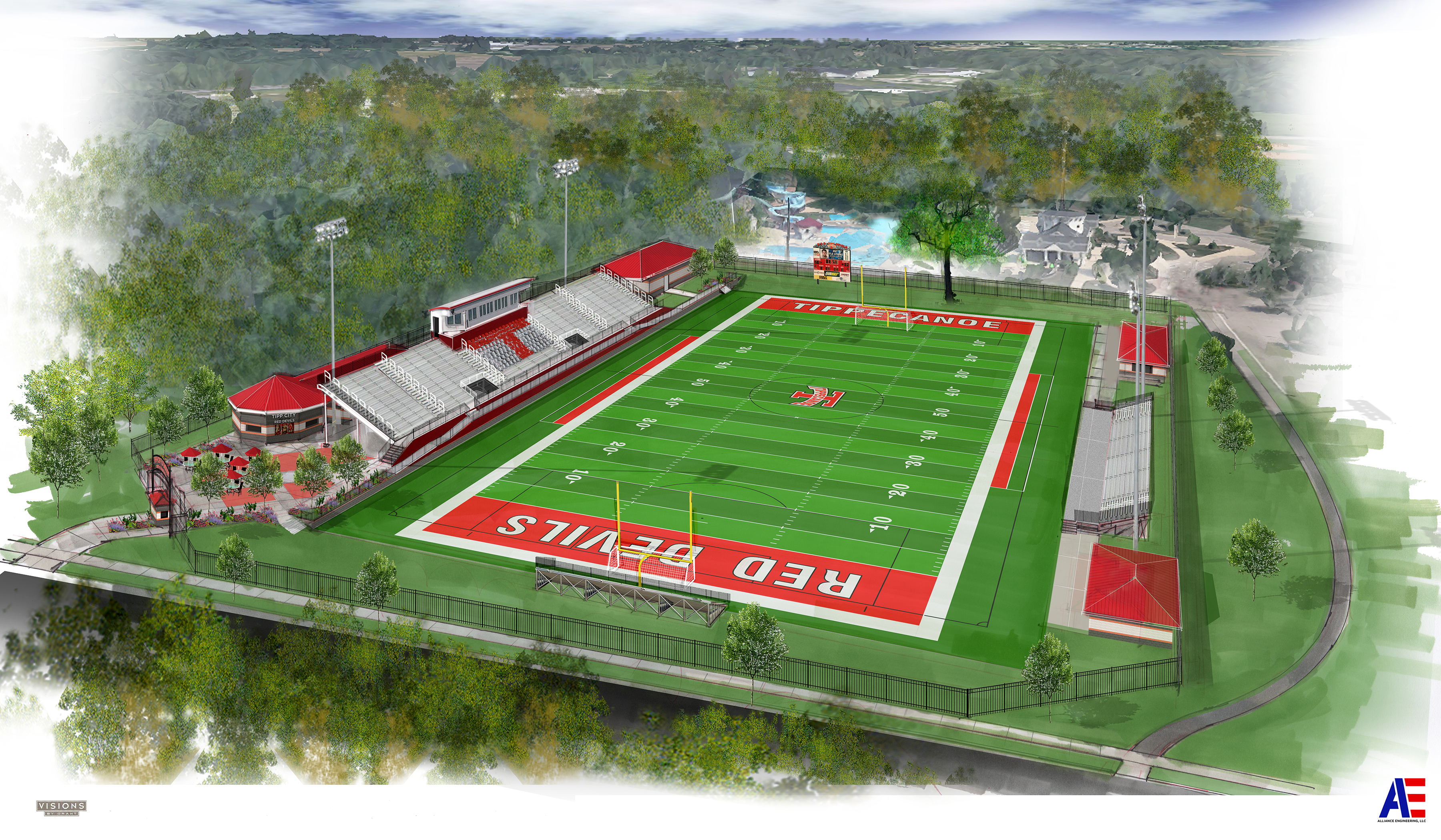 Tipp City Schools Stadium Rendering