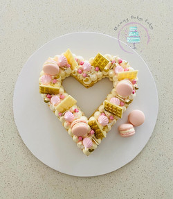 Heart Shaped Cookie White, Gold & Soft P