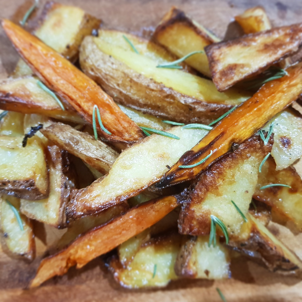Oven Roasted Wedges with Sea Salt and Rosemary