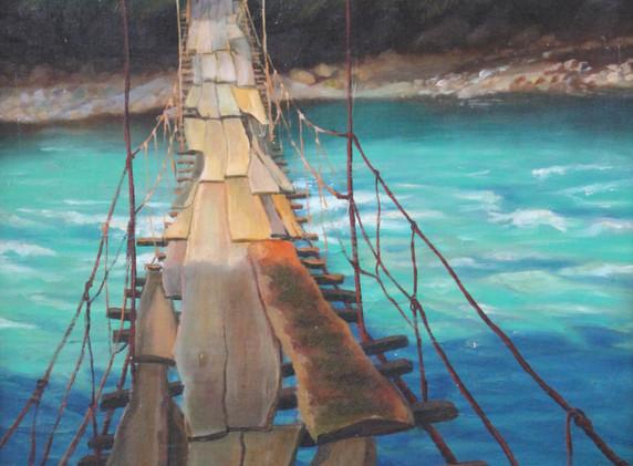 Podvesnoj most na r.Bzyb'_2004_Otel-Vystavochnyj zal-Barcic