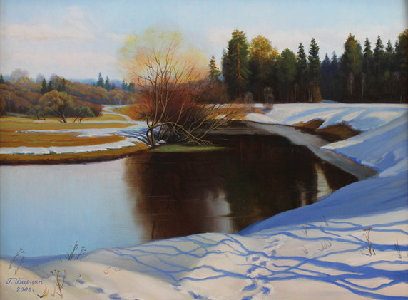 Vesennij den' na reke Ucha_2006_Otel-Vystavochnyj zal-Barcic