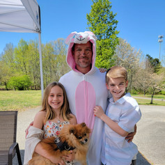 The Easter Bunny and 2 of our favorite volunteers :)