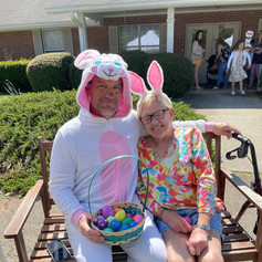 The Easter Bunny made an appearance at our 2021 Easter Celebration. Isn't Andrea cute with her bunny ears??