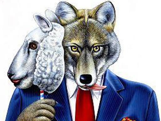 O lobo e as ovelhas