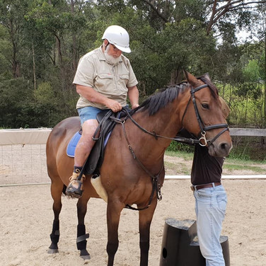 Yes, John has even had a riding lesson!