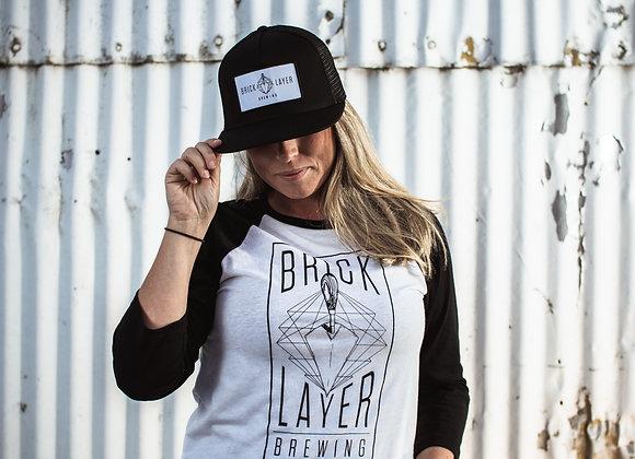 BRICKLAYER UNISEX 3/4 BASEBALL SHIRT