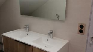 Installation meuble vasque et électricité