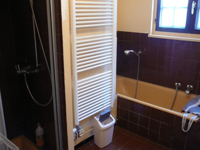 Cette salle de bain version vintage !