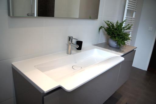 La salle de bain après les travaux
