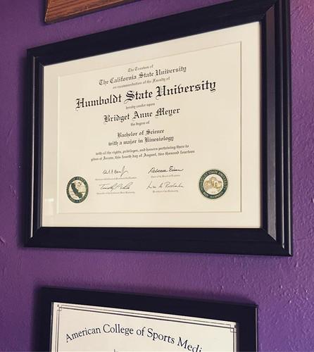 So stoked to finally hang my diploma on