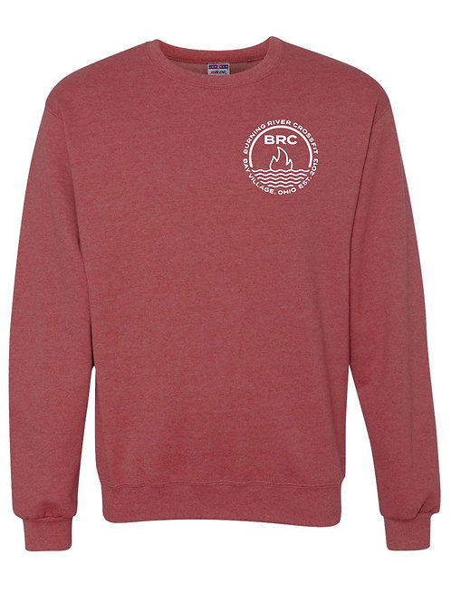 BRC Unisex Crew Neck Heather Red Circle
